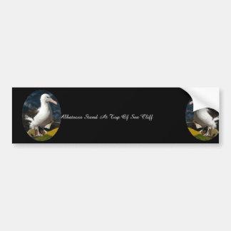 Adesivo Para Carro Suporte do albatroz no auge do penhasco do mar