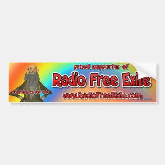 Adesivo Para Carro suporte orgulhoso do exilado livre de rádio