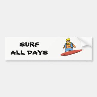 Adesivo Para Carro Surfista feliz