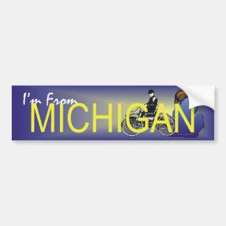 Adesivo Para Carro T eu sou de Michigan