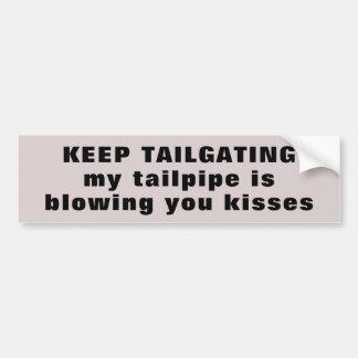 Adesivo Para Carro Tailgater, meu Tailpipe está fundindo-o beijos