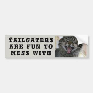 Adesivo Para Carro Tailgaters é divertimento a sujar com gato Meme