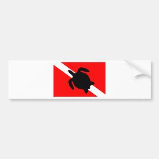 Adesivo Para Carro Tartaruga da bandeira do mergulho III