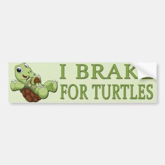 Adesivo Para Carro Tartarugas bonitos - freio de I para tartarugas