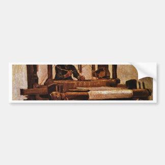 Adesivo Para Carro Tecelão no tear por Vincent van Gogh