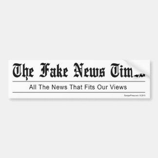 Adesivo Para Carro Tempos falsificados da notícia