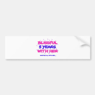 Adesivo Para Carro Tendendo o 5o design do aniversário do casamento