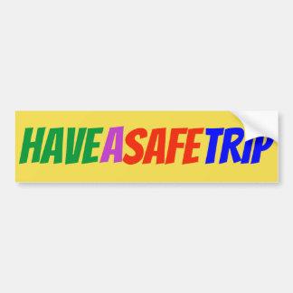 """Adesivo Para Carro """"Tenha etiqueta multicolorido de uma viagem"""