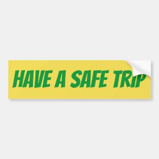 Adesivo Para Carro Tenha uma etiqueta de SafeTrip