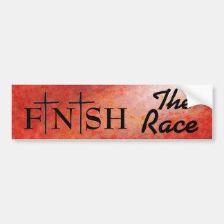 Adesivo Para Carro Termine as citações da bíblia da raça
