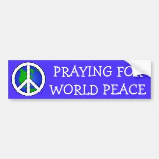 Adesivo Para Carro Terra da paz de mundo e AUTOCOLANTE NO VIDRO