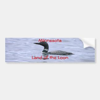 Adesivo Para Carro Terra de Minnesota do mergulhão-do-norte