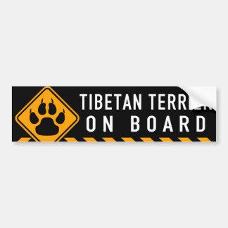 Adesivo Para Carro Terrier tibetano a bordo