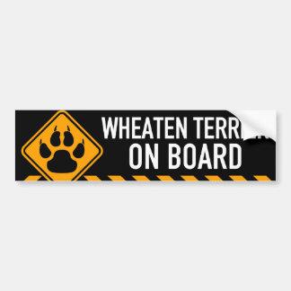 Adesivo Para Carro Terrier Wheaten a bordo