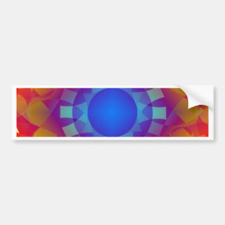 Adesivo Para Carro Teste padrão azul e alaranjado de Sun