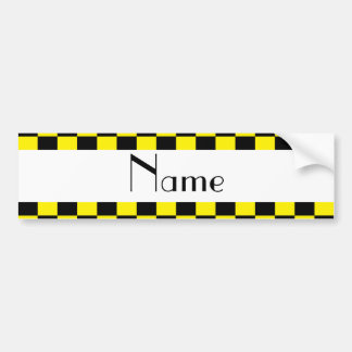 Adesivo Para Carro Teste padrão checkered preto e amarelo