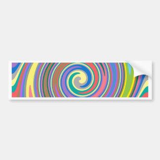 Adesivo Para Carro Teste padrão colorido do redemoinho do arco-íris