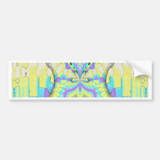 Adesivo Para Carro Teste padrão de néon festivo vibrante do abstrato