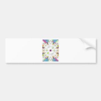 Adesivo Para Carro teste padrão do lenço do primavera do vintage