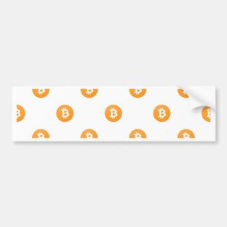 Adesivo Para Carro Teste padrão do logotipo de Bitcoin