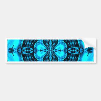 Adesivo Para Carro Teste padrão Funky azul de néon moderno