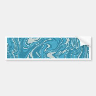 Adesivo Para Carro Teste padrão líquido abstrato do azul
