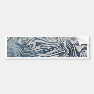 Adesivo Para Carro Teste padrão líquido de prata abstrato