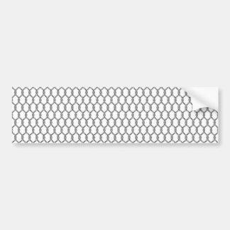 Adesivo Para Carro Teste padrão náutico preto e branco da corda