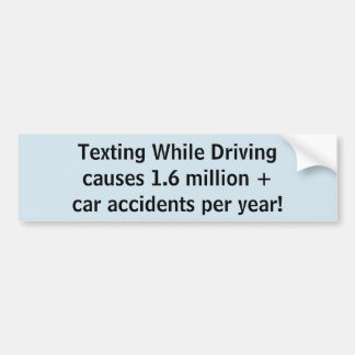 Adesivo Para Carro Texting quando conduzir causar 1,6 milhões+