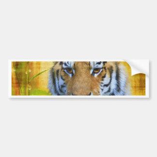 Adesivo Para Carro Tigre no bambu - pintura