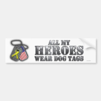 Adesivo Para Carro Todo meu dog tags do desgaste dos heróis