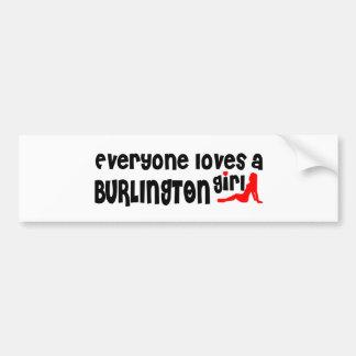 Adesivo Para Carro Todos ama uma menina de Burlington