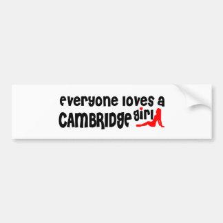 Adesivo Para Carro Todos ama uma menina de Cambridge