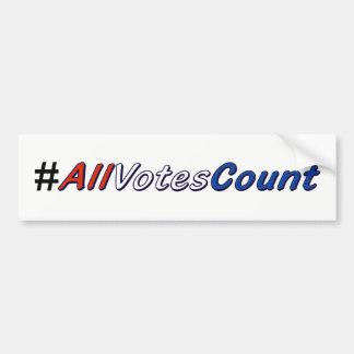 Adesivo Para Carro Todos os votos contam autocolantes no vidro