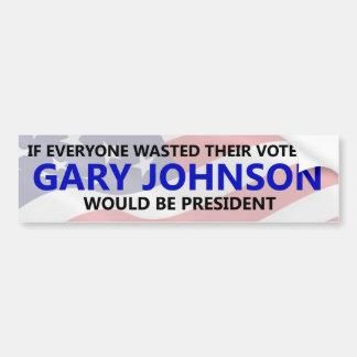Adesivo Para Carro Todos precisa de desperdiçar seu voto em Gary