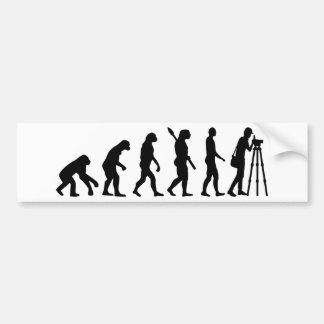 Adesivo Para Carro Topógrafo da evolução