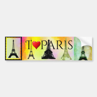 Adesivo Para Carro Torre Eiffel Bumpersticker