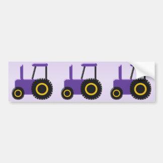 Adesivo Para Carro Trator roxo
