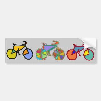 Adesivo Para Carro três bicicletas coloridas