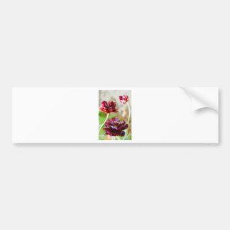 Adesivo Para Carro Trio de florescência da tulipa da peônia escura do