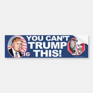Adesivo Para Carro Trunfo 2016 esta Anti-Hillary Clinton