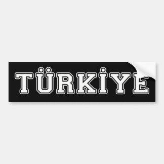 Adesivo Para Carro Türkiye