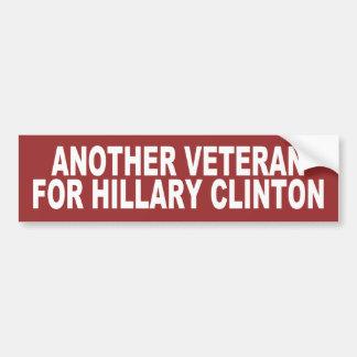 Adesivo Para Carro Um outro veterano para Hillary Clinton 2016