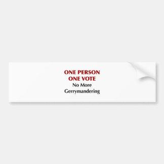 Adesivo Para Carro Um voto da pessoa uma, Gerrymandering