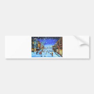 Adesivo Para Carro Uma cena da rua do inverno de Scrooge da canção de