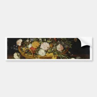 Adesivo Para Carro Uma cesta das flores - Jan Brueghel o mais novo
