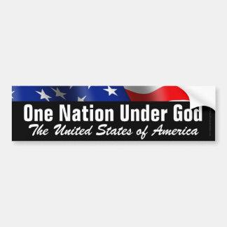 Adesivo Para Carro Uma nação sob o deus, autocolante no vidro