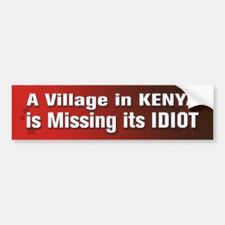 Adesivo Para Carro Uma vila em Kenya está faltando sua WTI do