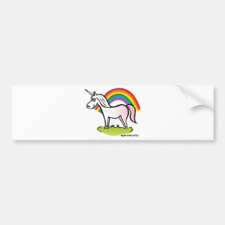 Adesivo Para Carro Unicorn and Rainbow - unicórnio e arco-íris
