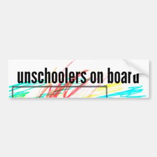 Adesivo Para Carro Unschoolers a bordo